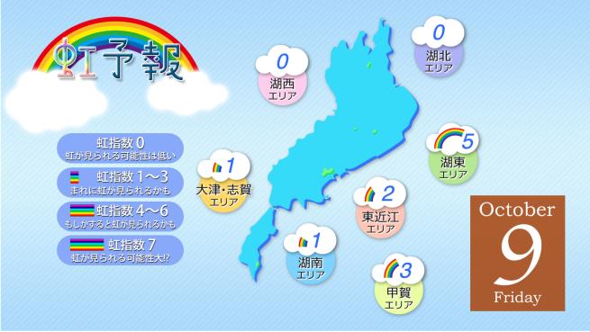 虹予報 画面イメージ