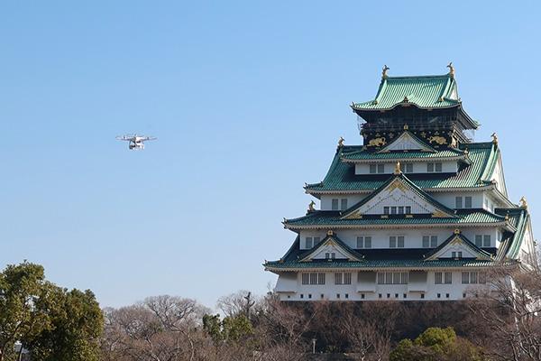 大阪城公園ドローンによる実証試験