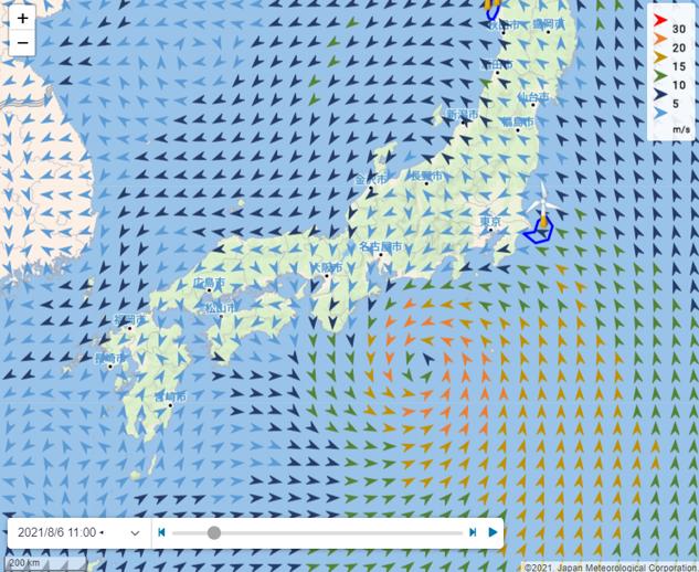 風向・風速予測
